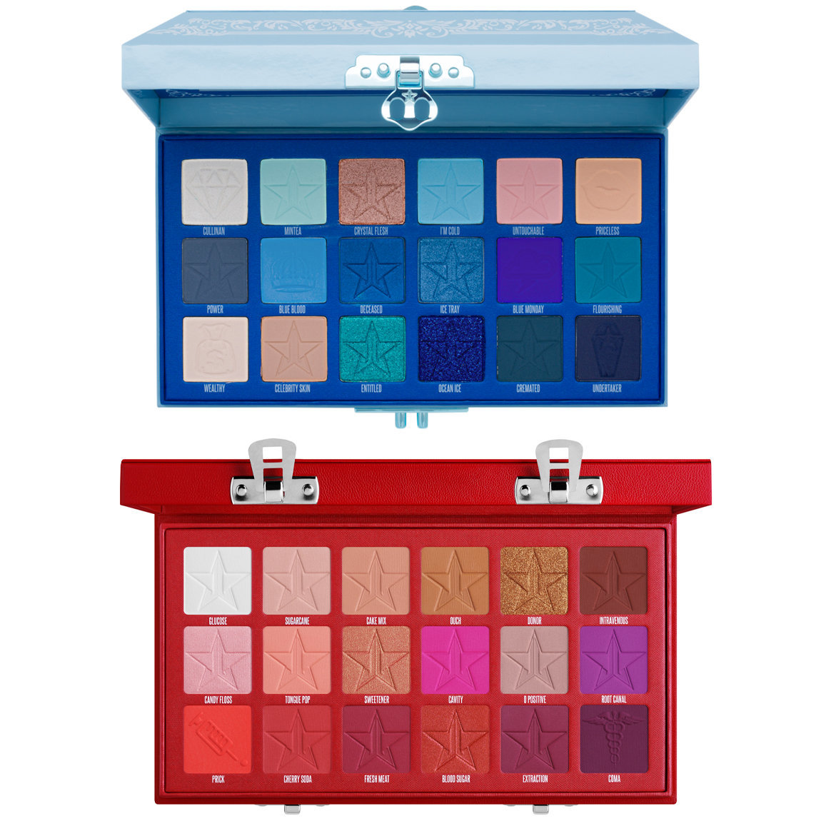 Jeffree Star Cosmetics Blue Blood & Blood Sugar Eyeshadow Palette Bundle alternative view 1.
