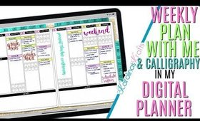 Setting up Weekly Digital Plan With Me March 9 to March 15 PROCESS, PWM Process Video & Calligraphy