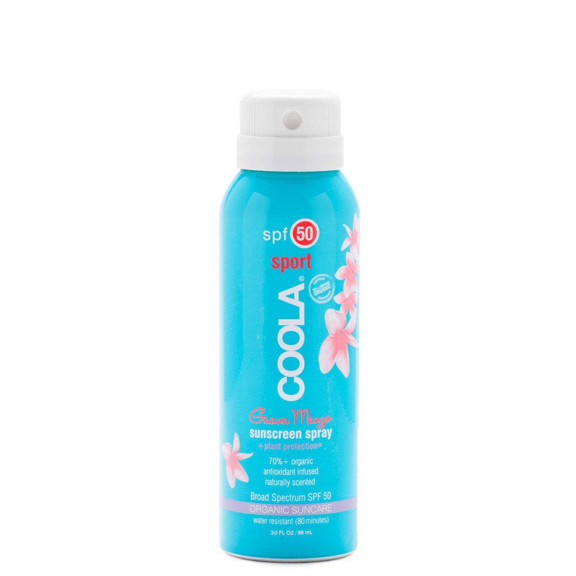 COOLA Travel Sport Sunscreen Spray SPF 50 Guava Mango alternative view 1 - product swatch.