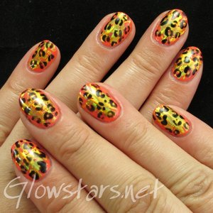 Read the blog post at http://glowstars.net/lacquer-obsession/2015/04/leopard-and-foils-with-gelish-rockin-the-reef/