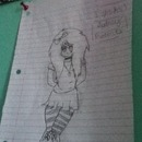 """My drawing, of a """"scene"""" girl.:)"""