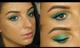 Spring Green & Turquoise Makeup Tutorial ♥