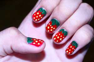 Did this for my momma who's undeniably obsessed with Strawberries!! : )