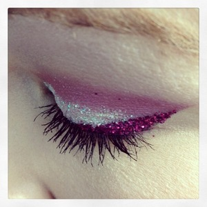 Pretty Iridescent and maroon glitter
