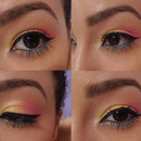 Rainbow eye and wing.