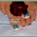 French Tip Toenail Art | Green MadamGlam Toenails