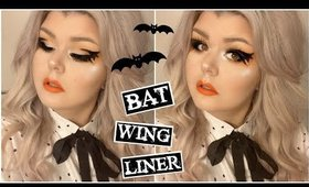 My Attempt At Bat Wing Liner 🦇 Halloween Inspired Makeup Tutorial
