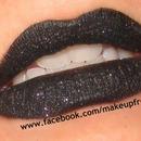 Black Glitter Lips