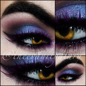 The amazing Ariel Alfonso aka Thee Vanity Diary in a stunning purple smoky eye, rocking our Violet Noir lashes! xx