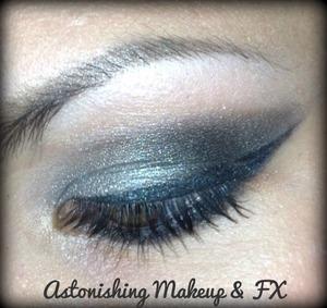 Sexy silver smokey eye makeup By: Astonishing Makeup & FX