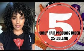 5 CURLY HAIR PRODUCTS UNDER $5 (COLLAB)