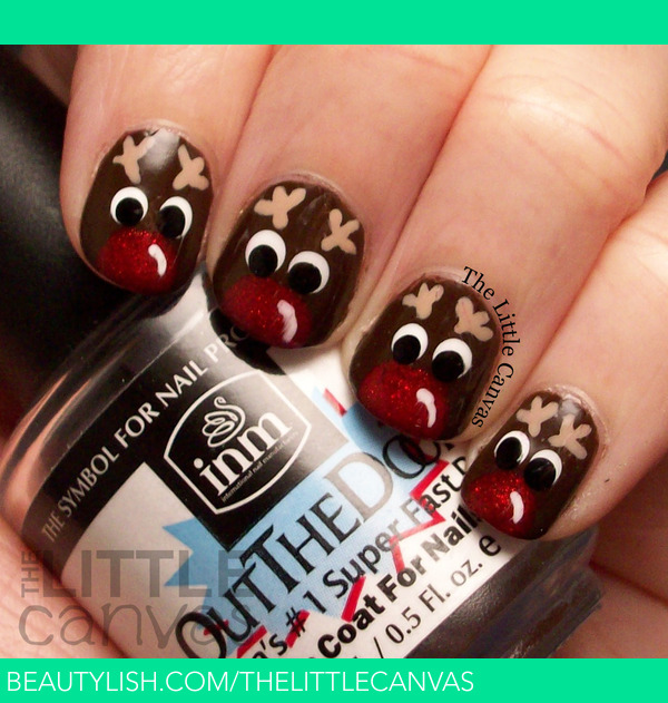 Rudolph The Red Nosed Reindeer The Little Canvas A S Thelittlecanvas Photo Beautylish