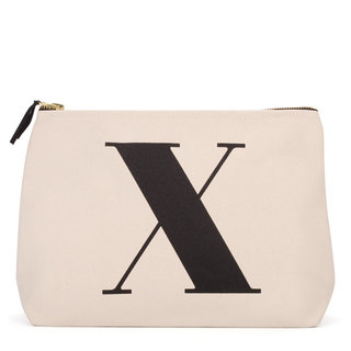 Natural Wash Bag Letter X