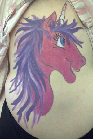 Mythical themes body paint I did on a client:)
