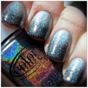 March Nail Art Challenge: Gradient. http://www.thepolishedmommy.com/2013/03/rainbows-in-dark-skies.html