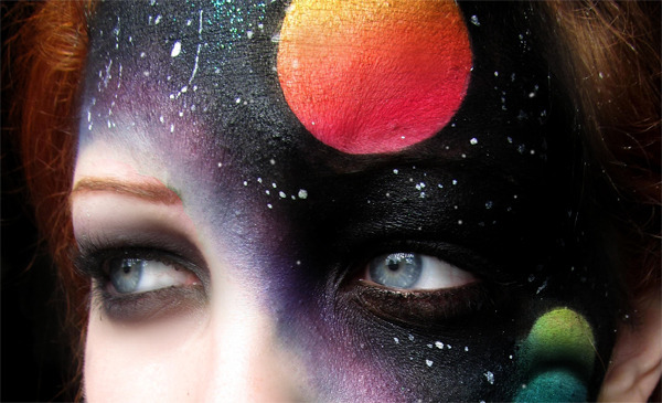 Astral Projection The Coolest Galactic Face Makeup