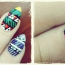 First time tribal nails part 2