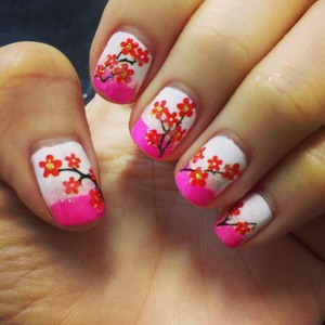 Manicure I got for myself during Chinese New Year back then..