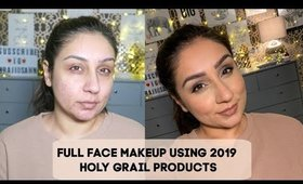 Full face makeup using 2019 Holy Grail Products