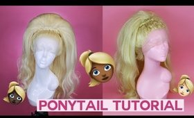 How to Style Stacked Ponytail | Drag Queen Wig Tutorial