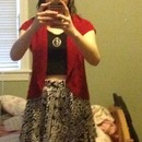 Is the red jacket acceptable with my skirt and crop top from forever 21?
