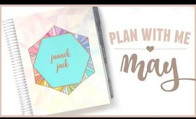 Plan With Me MAY Monthly Set Up | Erin Condren Vertical Neutral LifePlanner