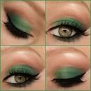 Forest green fall/autumn look collage