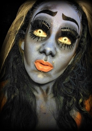 """8.23.12 - """"I've spent so long in the darkness, I'd almost forgotten how beautiful the moonlight is."""" Here's my take on Corpse Bride, from the 2005 movie; Corpse Bride."""