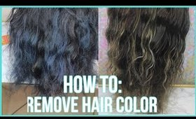 How To Remove Color From Hair | 3 Methods | 2016