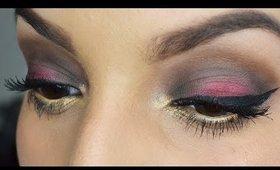 Purple Gold - Soft Smokey Eye Look (smokey léger - violet et or)