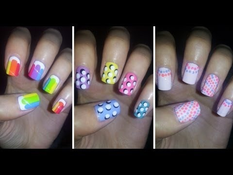 Easy nail art for beginners 4 missjenfabulous video - Easy nail polish designs to do at home ...