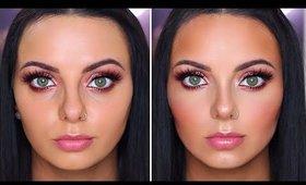 How To Contour & Highlight a Round Face!