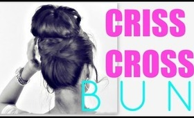 ★ EASY BUN HAIRSTYLES | CRISS CROSS UPDOS FOR MEDIUM LONG HAIR TUTORIAL | SCHOOL, PROM, WEDDING STYLES