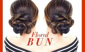 FLORAL Side BUN Hairstyle ★ Easy Updo Hairstyles   Homecoming