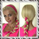 Scarf Braid with Lavish Dream hair extensions