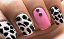 Giraffe Nail Art tutorial Animal Nails Art designs beginners cute nail polish ideas Short/long nails