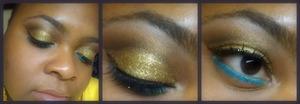Glitter Cut Crease Look.