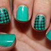 Random Pattern On Turquoise