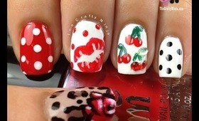 Pin Up Inspired Nails by The Crafty Ninja