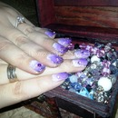 Purple ombre with gems