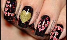 easy to do valentines nail art