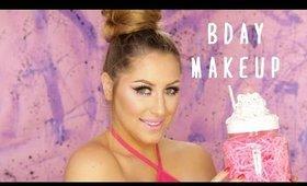 Birthday Makeup- Pink & Glitter!
