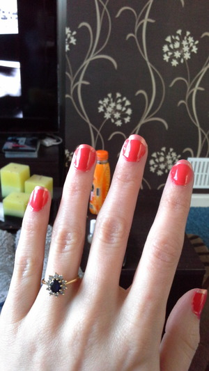 My first attempt at doing my nails, haven't cleaned them up but what do you think?