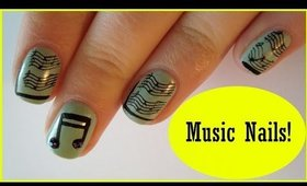 Festive Music Nail Art ♥ Simple Concert Nails ♥ BPS review