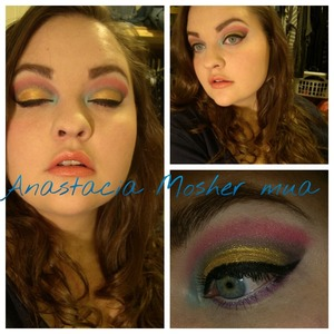 A bright and colorful look!