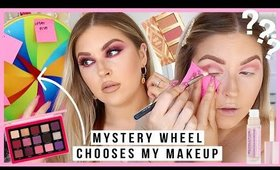 MYSTERY WHEEL chooses my makeup & colours! 🔮 so fun!