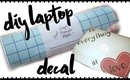 DIY LAPTOP DECAL WITH ANGEL CRAFT TRANSFER PAPER