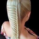 Valentines Day Hairstyle #5 Ladder Braid