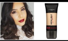 New L'oreal Infallible Pro Matte Foundation First Impression & Review!