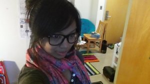 I like to change my look sometimes and add some glasses. These big frames are a big trend in Asia.